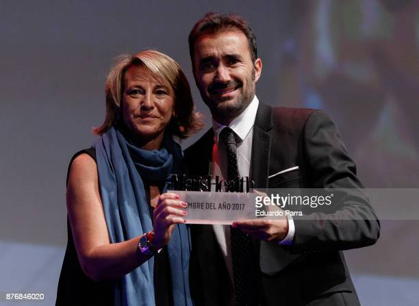 Juanma Castano and Maria Wandosell attend Men's Health 2017 Awards gala at Goya theater on November 20 2017 in Madrid Spain
