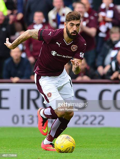Juanma Delgado of Hearts in action during the Ladbrokes Scottish Premiership match between Heart of Midlothian FC and St Johnstone FC at Tynecastle...