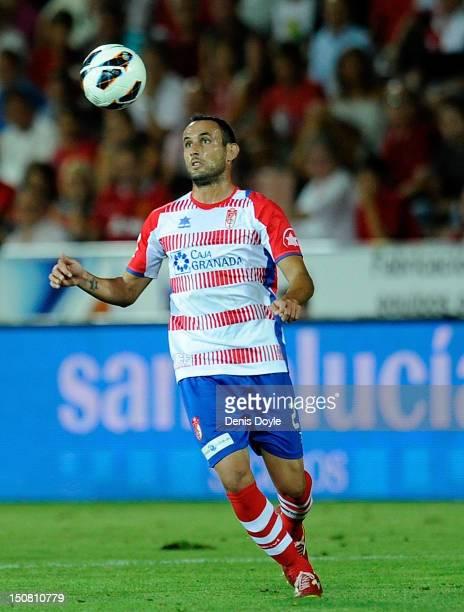 Juanma Ortiz of Granada controls the ball during the La Liga match between Granada CF and Sevilla FC at Estadio Nuevo Los Carmenes on August 26 2012...