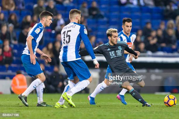 Juanmi during the match between RCD Espanyol vs Real Sociedad for the round 22 of the Liga Santander played at RCD Espanyol Stadium on 10th February...