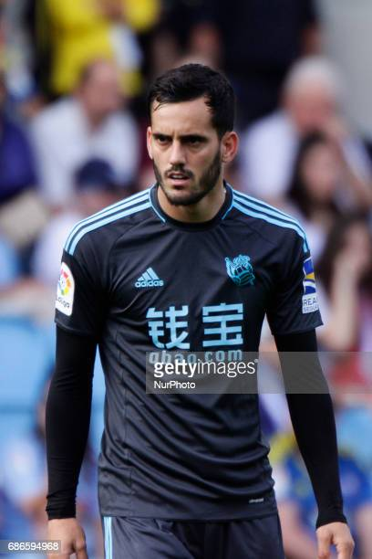 Juanmi Jimenez forward of Real Sociedad de Futbol during the La Liga Santander match between Celta de Vigo and Real Sociedad de Futbol at Balaidos...
