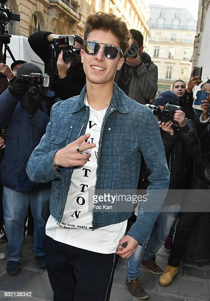 Juanpa Zurita attends the Louis Vuitton Menswear Fall/Winter 20172018 show as part of Paris Fashion Week on January 19 2017 in Paris France