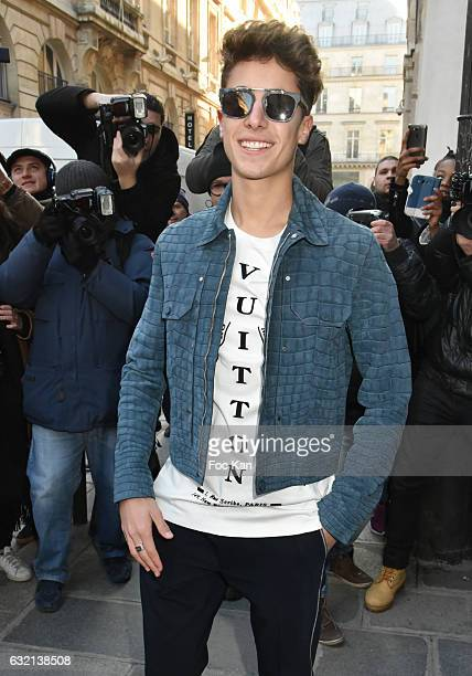 Juanpa Zurita attends the Louis Vuitton Menswear Fall/Winter 20172018 show as part of Paris Fashion Week on January 19 2017 in Paris France