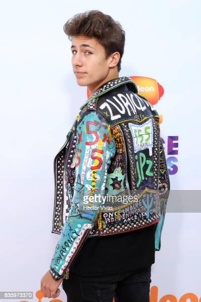 Juanpa Zurita poses for pictures during the Kids Choice Awards Mexico 2017 Orange Carpet at Auditorio Nacional on August 19 2017 in Mexico City Mexico