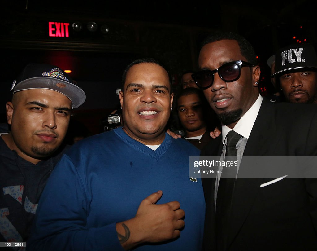 DJ Juanyto, DJ Enuff and Sean 'Diddy' Combs attend the DJ Enuff Birthday Celebration at The Griffin on January 30, 2013 in New York City.