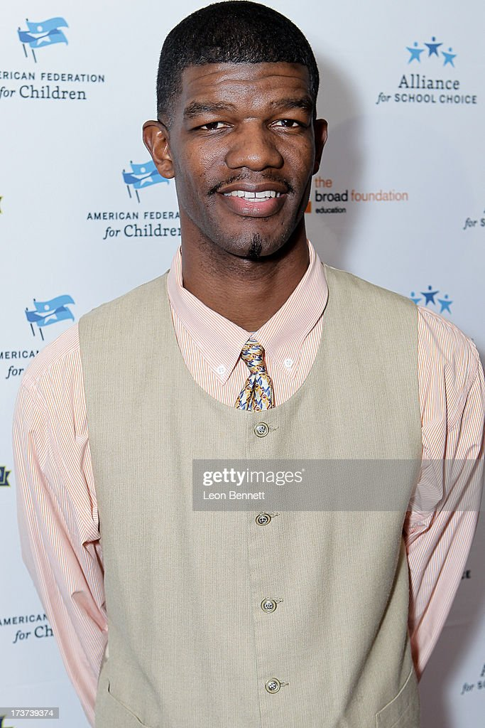 Juaquin Hawkins attended The Champions For Choice In Education ESPYs Kickoff Cocktail Party at Ritz Carlton on July 16, 2013 in Los Angeles, California.