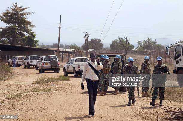 UN troops from the Pakistani Battallion evacuate personnel of the UN radio station Mirror FM 15 December 2006 in Juba Heavy gunfire broke out in the...