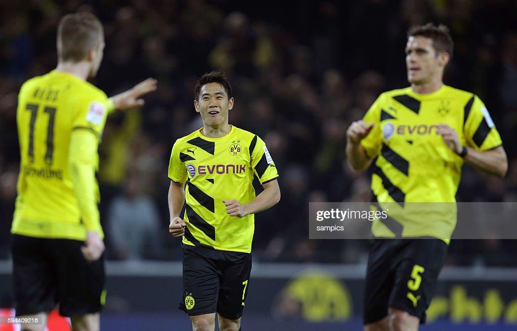 Marco Reus Shinji Kagawa Sebastian Kehl Fußball 1Bundesliga Borussia Dortmund Borussia Mönchengladbach 10