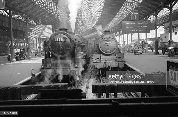 Jubilee Class 460 locomotive number 45603 �Solomon Islands� with the Irish Mail train at Euston Station by Eric Treacy The Irish Mail is the oldest...