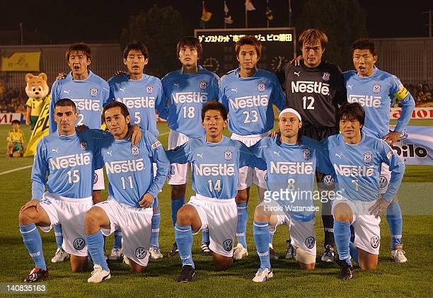 Jubilo Iwata players Aleksandar Zivkovic Norihiro Nishi Takahiro Yamanishi Rodrigo Gral and Hiroshi Nanami Hideto Suzuki Makoto Tanaka Ryoichi Maeda...