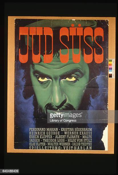 Jud Suss is an antiSemitic movie released in Germany early in World War II based on a novel of the same name by Leon Feuchtwangler