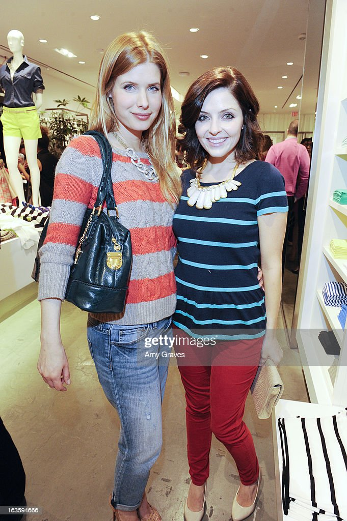 Jud Tylor and Jen Lilley attend the LOFT Pop-Up On Robertson event on March 12, 2013 in Los Angeles, California.