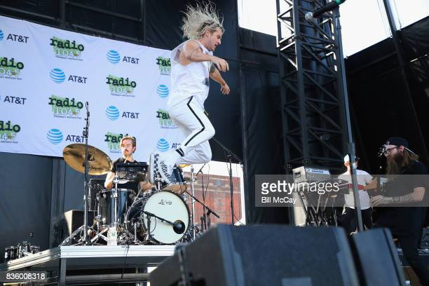 Judah Akers of the band Judah and The Lion performs at the Radio 1045 Summer Block Party August 20 2017 in Philadelphia Pennsylvania