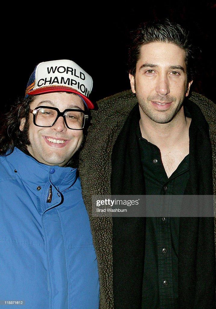 Judah Friedlander and David Schwimmer during 2005 Sundance Film Festival 'Duane Hopwood' Premiere in Park City Utah United States