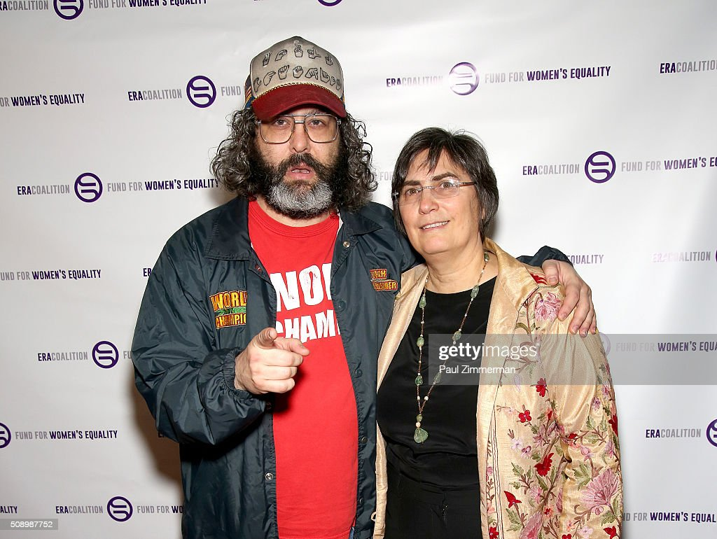 <a gi-track='captionPersonalityLinkClicked' href=/galleries/search?phrase=Judah+Friedlander&family=editorial&specificpeople=666026 ng-click='$event.stopPropagation()'>Judah Friedlander</a> (L) and Jessica Neuwirth attend A Night Of Comedy with Jane Fonda presented by the Fund For Women's Equality & ERA Coalition Carolines On Broadway on February 7, 2016 in New York City.