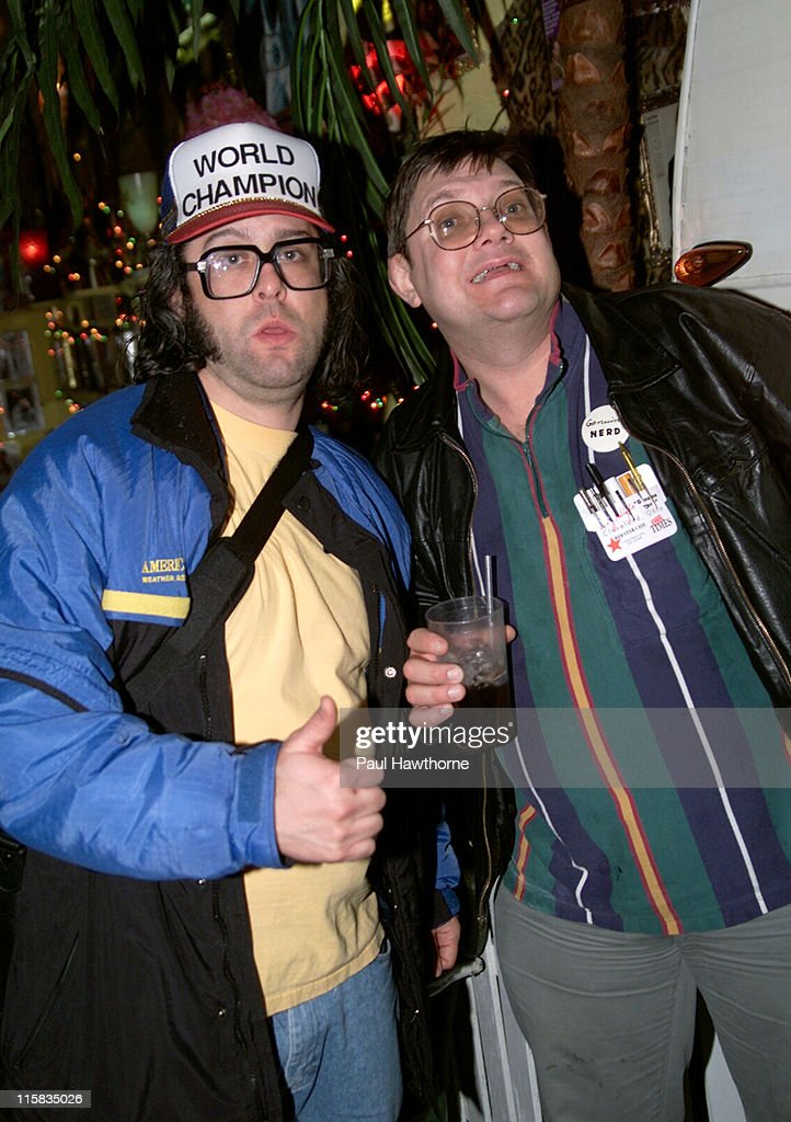 Judah Friedlander and Toby Radloff during 'American Splendor' and 'Revenge of the Nerds' Viewing and After Party New York at Trailer Park in New York...