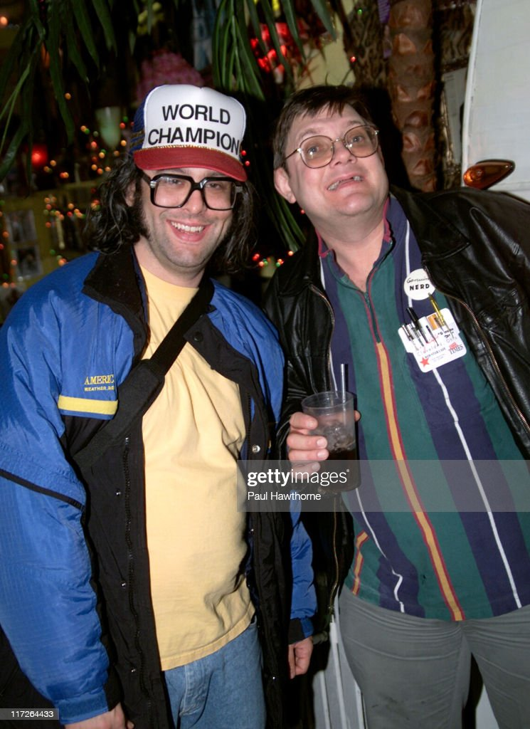Judah Friedlander and Toby Radloff during American Splendor and Revenge of the Nerds Viewing and After Party New York at Trailer Park in New York...