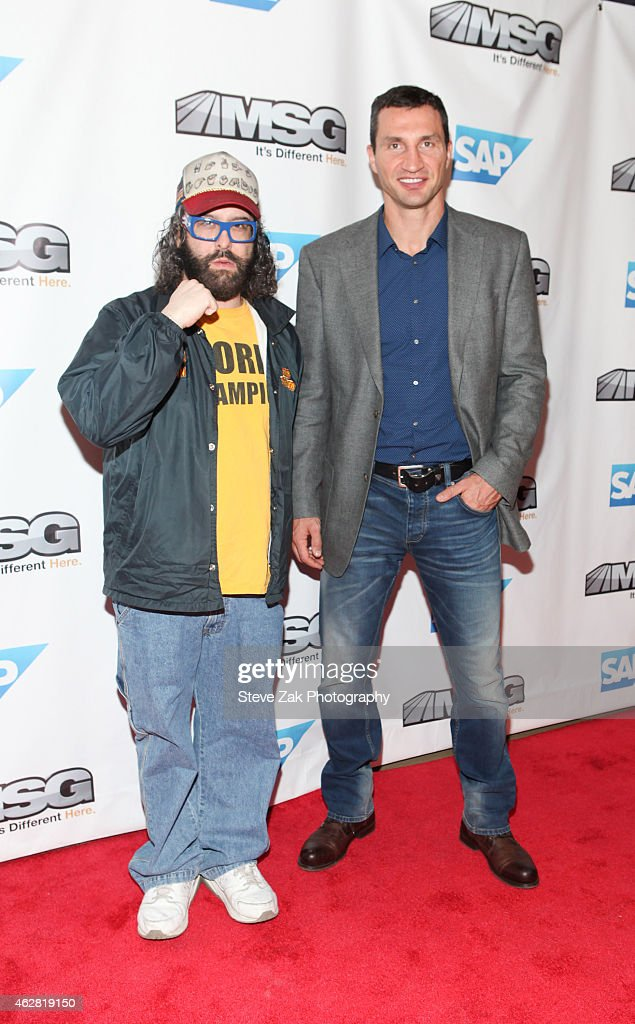Judah Friedlander and Wladimir Klitschko attend MSG Networks Original Programming Party at Madison Square Garden on February 5 2015 in New York City