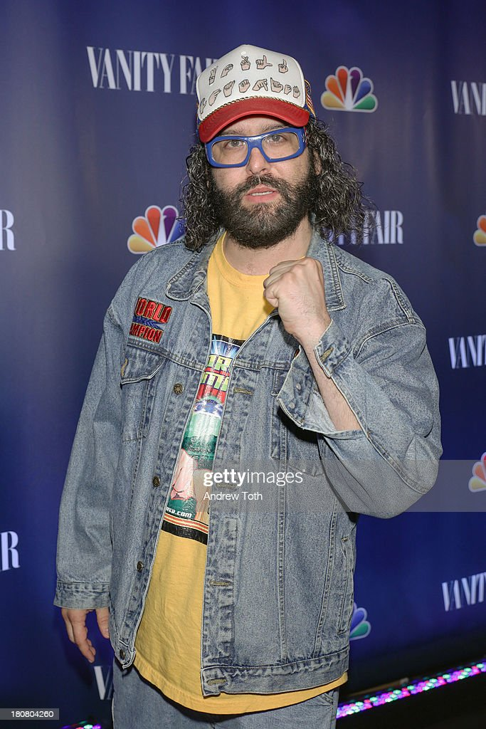 <a gi-track='captionPersonalityLinkClicked' href=/galleries/search?phrase=Judah+Friedlander&family=editorial&specificpeople=666026 ng-click='$event.stopPropagation()'>Judah Friedlander</a> attends the NBC's 2013 Fall Launch Party hosted by Vanity Fair at The Standard Hotel on September 16, 2013 in New York City.