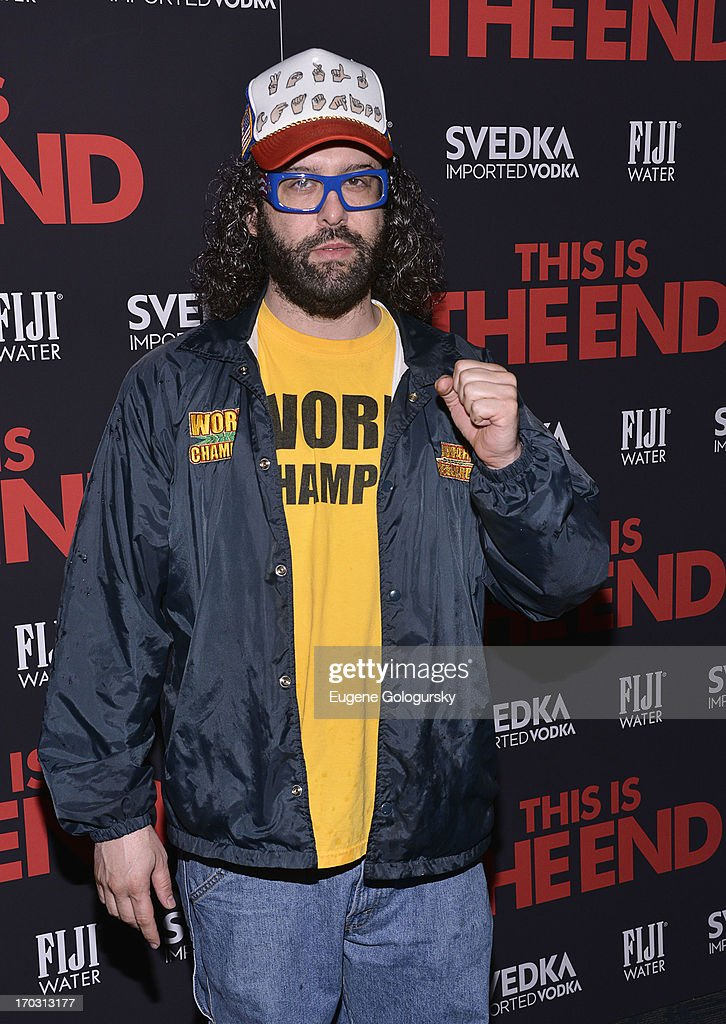 <a gi-track='captionPersonalityLinkClicked' href=/galleries/search?phrase=Judah+Friedlander&family=editorial&specificpeople=666026 ng-click='$event.stopPropagation()'>Judah Friedlander</a> attends 'This Is The End' New York Premiere at Landmark's Sunshine Cinema on June 10, 2013 in New York City.
