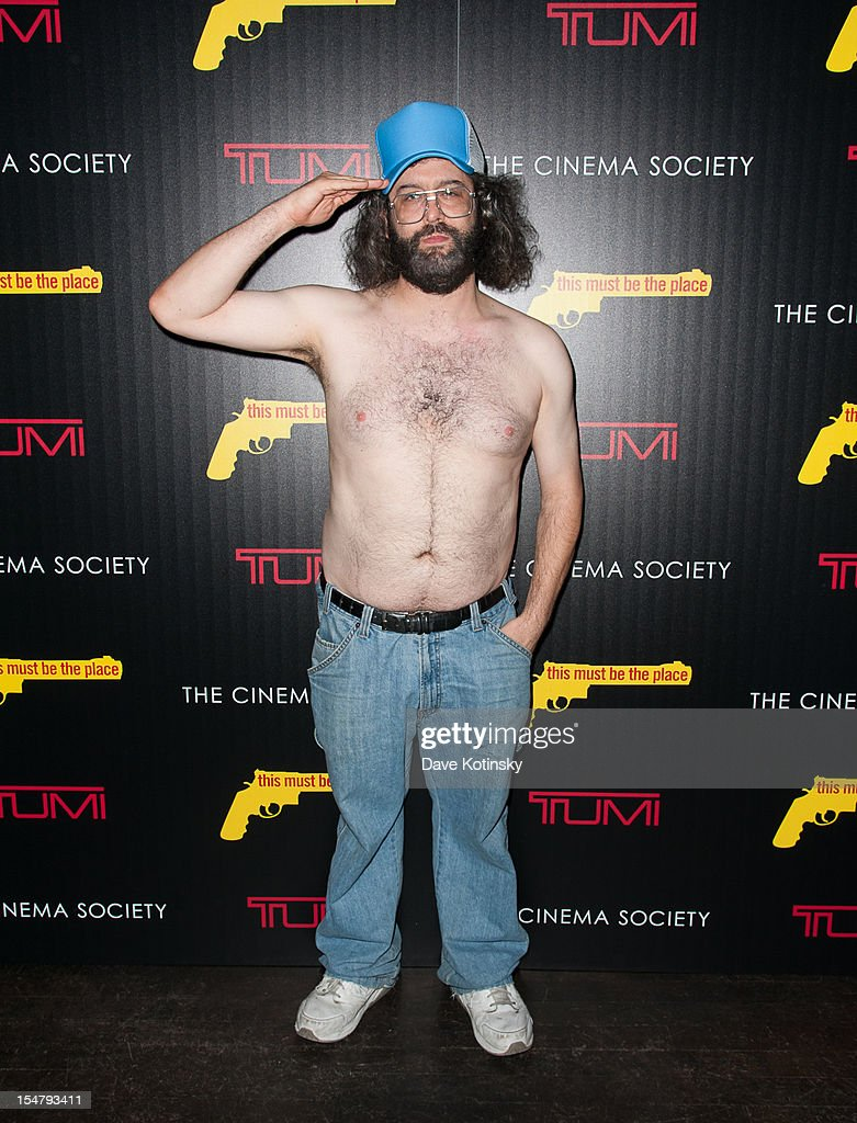 Judah Friedlander attendsThe Weinstein Company With The Cinema Society And Tumi Host A Screening Of 'This Must Be the Place' at Tribeca Grand Hotel on October 25, 2012 in New York City.