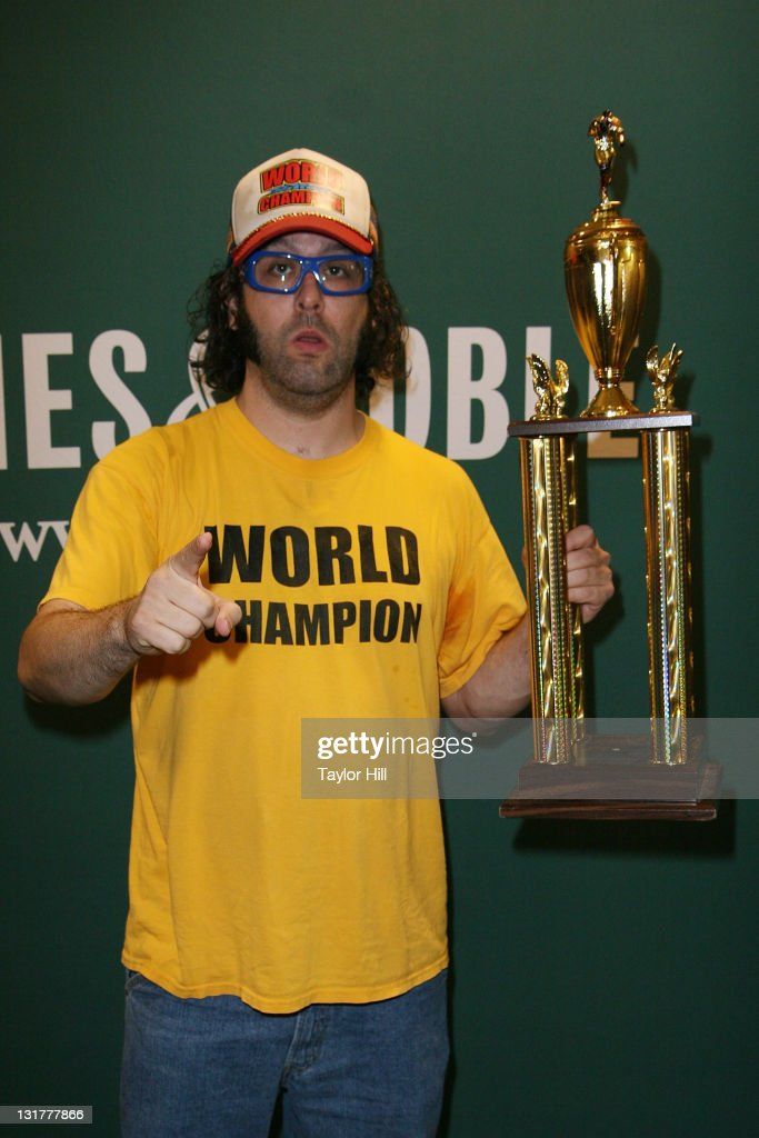 Judah Friedlander promotes his new book 'How to Beat Up Anybody An Instructional and Inspirational Karate Book by the World Champion' at Barnes Noble...