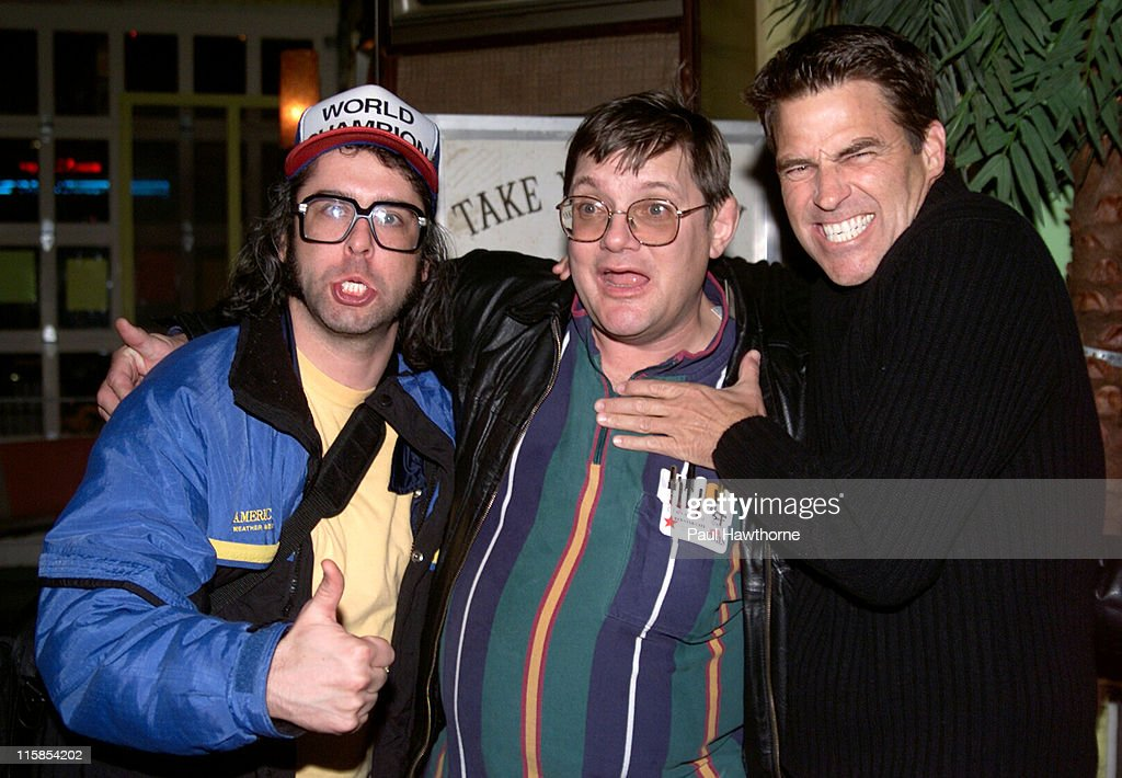 Judah Friedlander Toby Radloff and Ted McGinley during 'American Splendor' and 'Revenge of the Nerds' Viewing and After Party New York at Trailer...