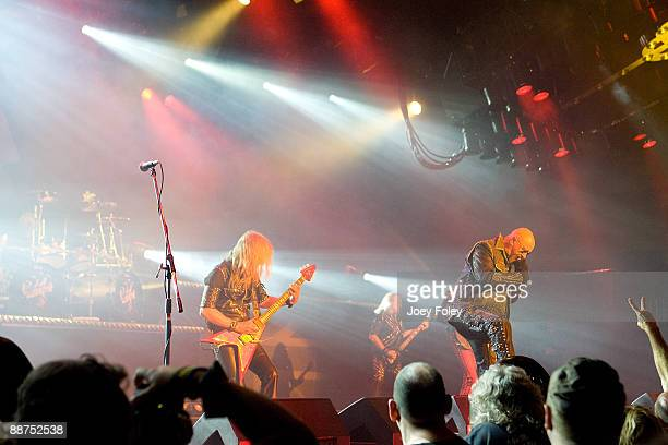 Judas Priest performs in the opening date of their Summer Tour at the Egyptian Room Murat Centre on June 29 2009 in Indianapolis Indiana