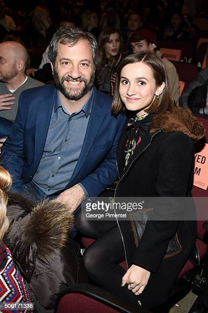 Judd Apatow and actress Maude Apatow attend the 'Other People' Premiere during the 2016 Sundance Film Festival at Eccles Center Theatre on January 21...