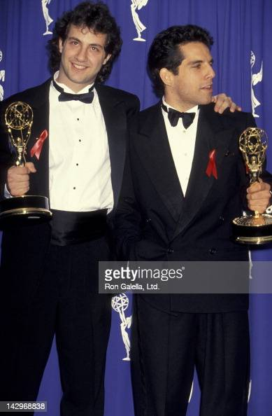 Judd Apatow and Ben Stiller attend 45th Annual Primetime Emmy Awards on September 19 1993 at the Pasadena Civic Auditorium in Pasadena California
