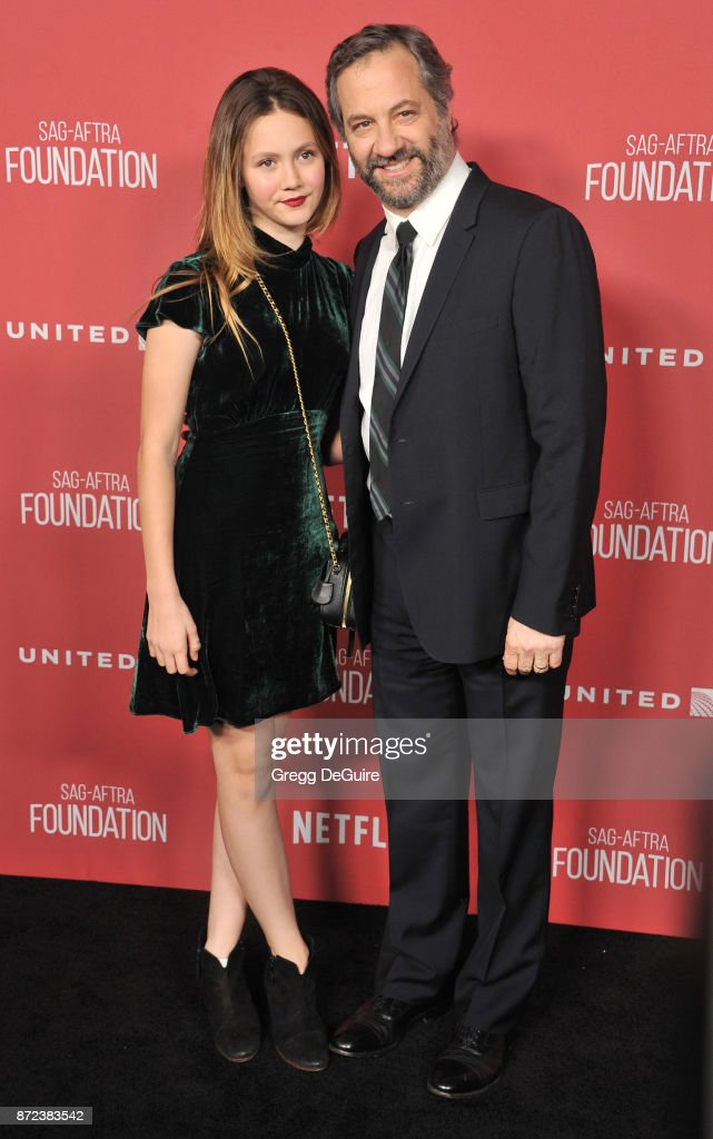 Judd Apatow and Iris Apatow arrive at the SAG-AFTRA Foundation Patron of the Artists Awards 2017 on November 9, 2017 in Beverly Hills, California.