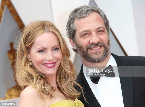 Judd Apatow and Leslie Mann arrive at the 89th Annual Academy Awards at Hollywood Highland Center on February 26 2017 in Hollywood California