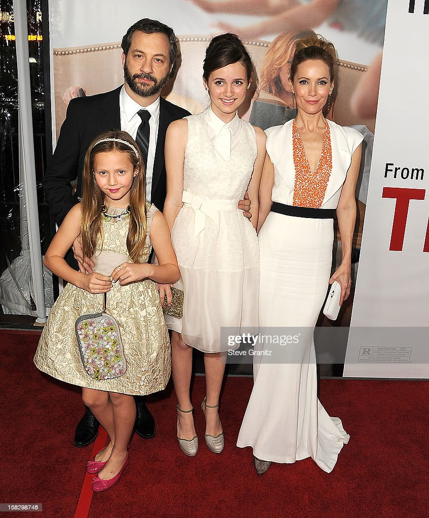 Judd Apatow and Leslie Mann arrives at the 'This Is 40' - Los Angeles Premiere at Grauman's Chinese Theatre on December 12, 2012 in Hollywood, California.