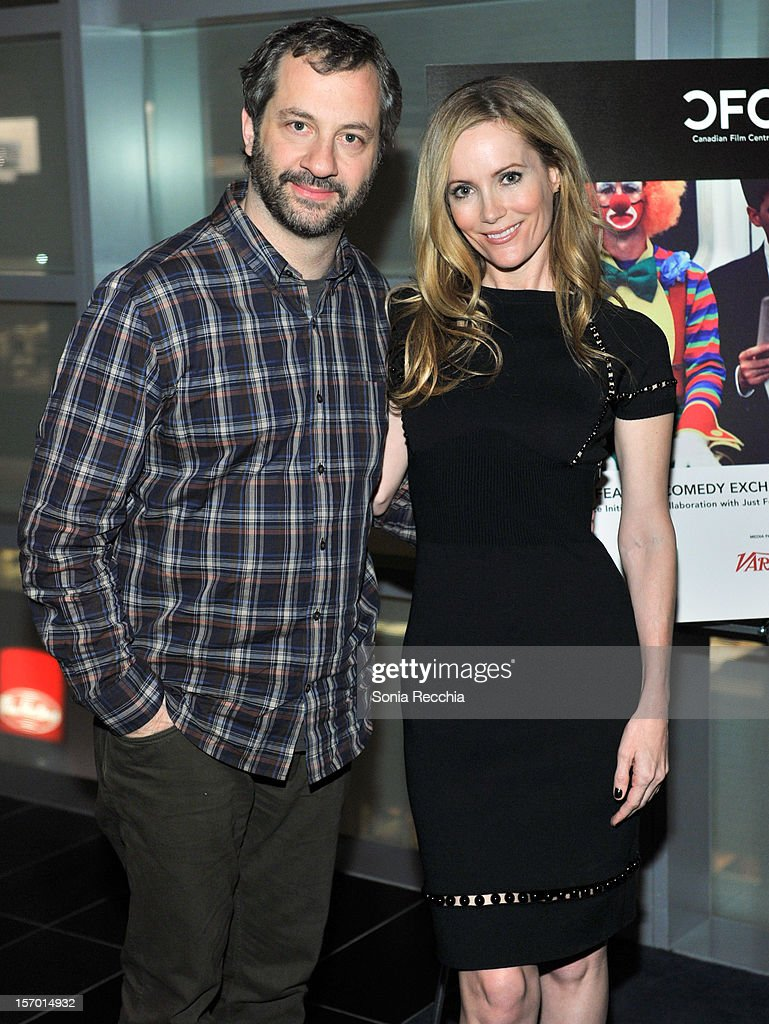 Judd Apatow and Leslie Mann attend CFC Presents An Evening With Leslie Mann And Judd Apatow at TIFF Bell Lightbox on November 26, 2012 in Toronto, Canada.