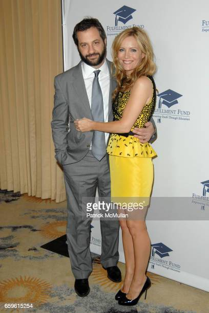 Judd Apatow and Leslie Mann attend FULFILLMENT FUND HONORS JUDD APATOW AND LESLIE MANN AT 2009 BENEFIT GALA at Bevelry Hills Hotel on October 26 2009...