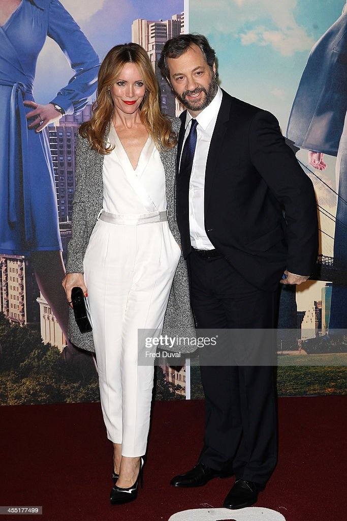 <a gi-track='captionPersonalityLinkClicked' href=/galleries/search?phrase=Judd+Apatow&family=editorial&specificpeople=854225 ng-click='$event.stopPropagation()'>Judd Apatow</a> and <a gi-track='captionPersonalityLinkClicked' href=/galleries/search?phrase=Leslie+Mann&family=editorial&specificpeople=595973 ng-click='$event.stopPropagation()'>Leslie Mann</a> attend the UK film premiere of 'Anchorman 2: The Legend Continues' at Vue West End on December 11, 2013 in London, England.