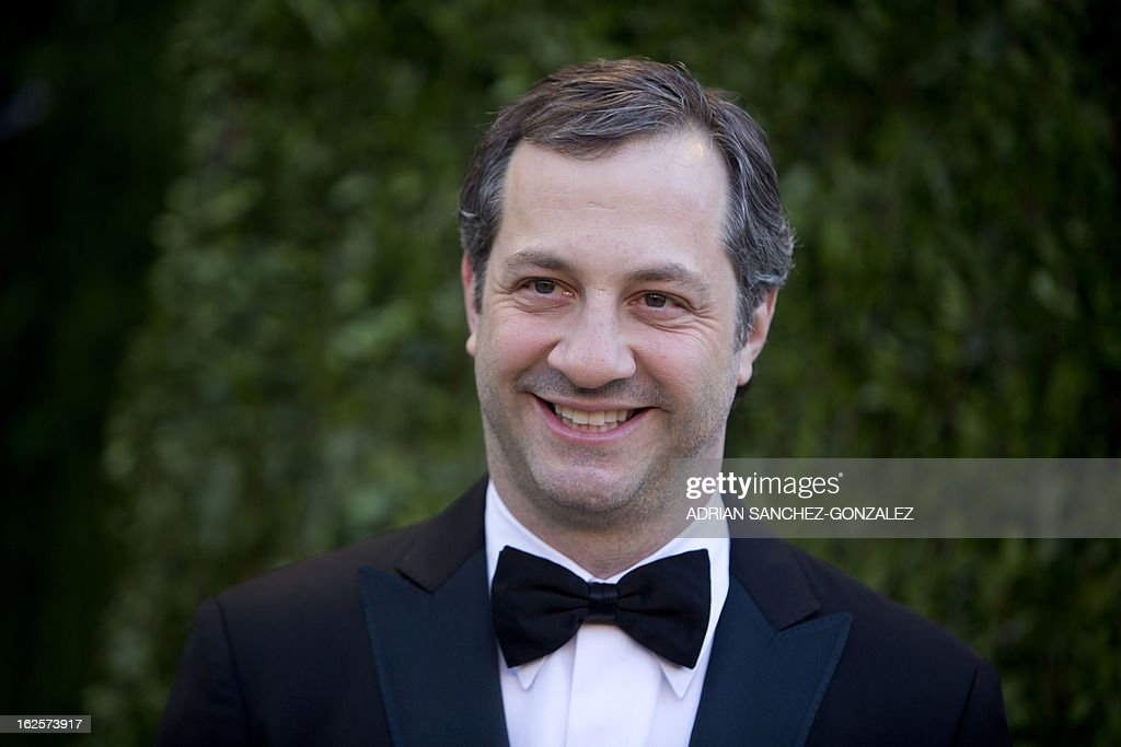 Judd Apatow arrives for the 2013 Vanity Fair Oscar Party on February 24, 2013 in Hollywood, California.
