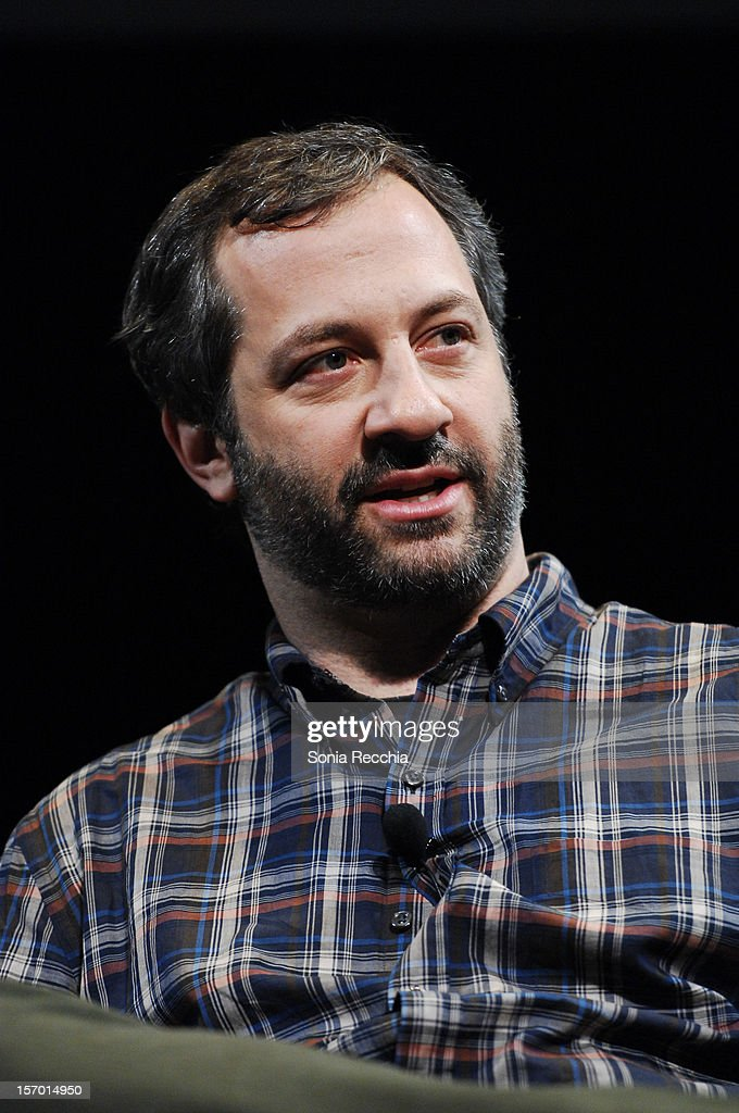 <a gi-track='captionPersonalityLinkClicked' href=/galleries/search?phrase=Judd+Apatow&family=editorial&specificpeople=854225 ng-click='$event.stopPropagation()'>Judd Apatow</a> attends CFC Presents An Evening With Leslie Mann And <a gi-track='captionPersonalityLinkClicked' href=/galleries/search?phrase=Judd+Apatow&family=editorial&specificpeople=854225 ng-click='$event.stopPropagation()'>Judd Apatow</a> at TIFF Bell Lightbox on November 26, 2012 in Toronto, Canada.