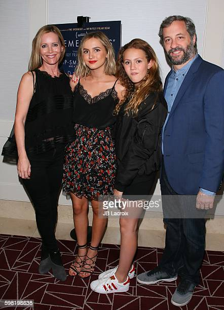 Judd Apatow Iris Apatow Maude Apatow and Leslie Mann attend premiere of Vertical Entertainment's 'Other People' on August 31 2016 in West Hollywood...