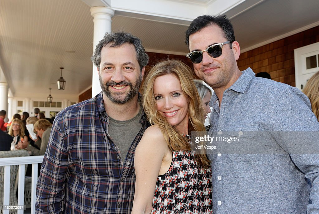 <a gi-track='captionPersonalityLinkClicked' href=/galleries/search?phrase=Judd+Apatow&family=editorial&specificpeople=854225 ng-click='$event.stopPropagation()'>Judd Apatow</a>, <a gi-track='captionPersonalityLinkClicked' href=/galleries/search?phrase=Leslie+Mann&family=editorial&specificpeople=595973 ng-click='$event.stopPropagation()'>Leslie Mann</a> and <a gi-track='captionPersonalityLinkClicked' href=/galleries/search?phrase=Jimmy+Kimmel&family=editorial&specificpeople=214115 ng-click='$event.stopPropagation()'>Jimmy Kimmel</a> attend Eddie Vedder and Zach Galifianakis Rock Malibu Fundraiser for EBMRF and Heal EB on September 15, 2013 in Malibu, California.