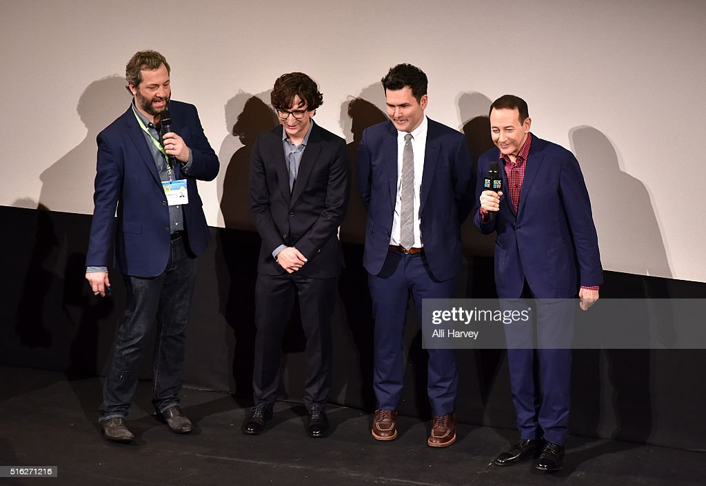 Judd Apatow, Paul Rust, John Lee and Paul Reubens attend Netflix presents the world premiere of 'Pee-wee's Big Holiday' at SXSW March 17, 2016 in Austin, Texas.