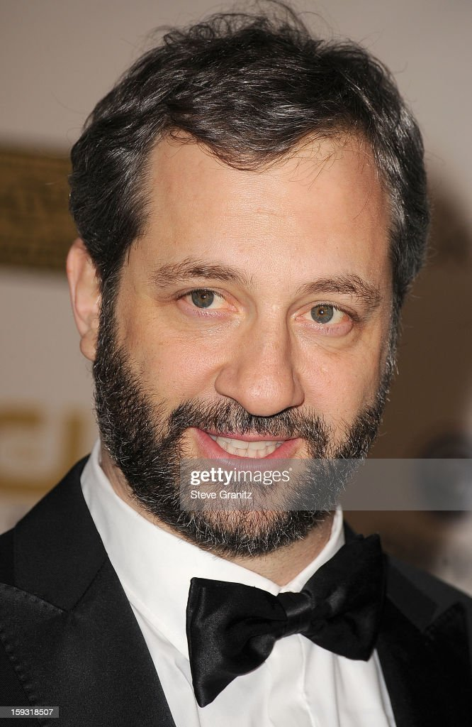 Judd Apatow poses at the18th Annual Critics' Choice Movie Awards at The Barker Hanger on January 10, 2013 in Santa Monica, California.