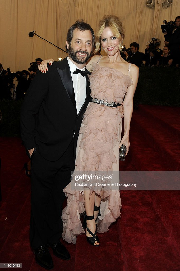 Judd Aptow and <a gi-track='captionPersonalityLinkClicked' href=/galleries/search?phrase=Leslie+Mann&family=editorial&specificpeople=595973 ng-click='$event.stopPropagation()'>Leslie Mann</a> attends the 'Schiaparelli And Prada: Impossible Conversations' Costume Institute Gala at the Metropolitan Museum of Art on May 7, 2012 in New York City.