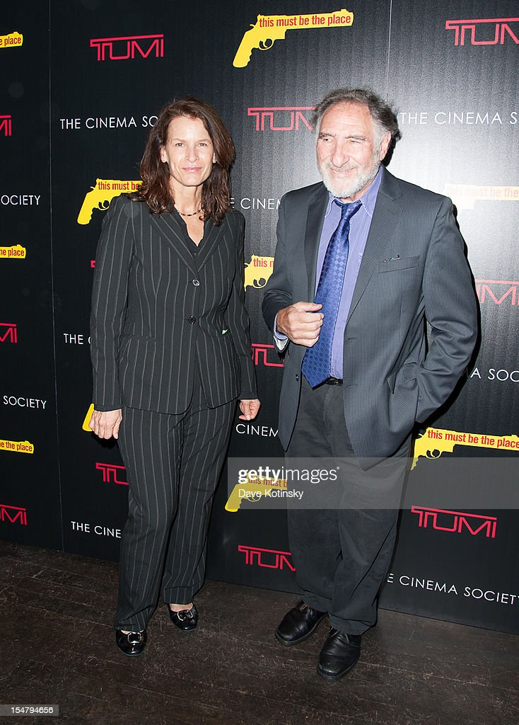 Judd Hirsch(right) and guest attends The Weinstein Company With The Cinema Society And Tumi Host A Screening Of 'This Must Be the Place' at Tribeca Grand Hotel on October 25, 2012 in New York City.