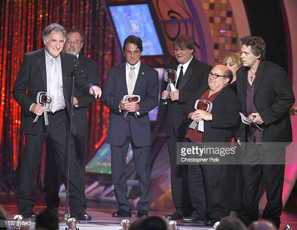 Judd Hirsch James L Brooks Tony Danza Randall Carver Danny DeVito Carol Kane and Jeff Conaway winners Medallion Award for 'Taxi'