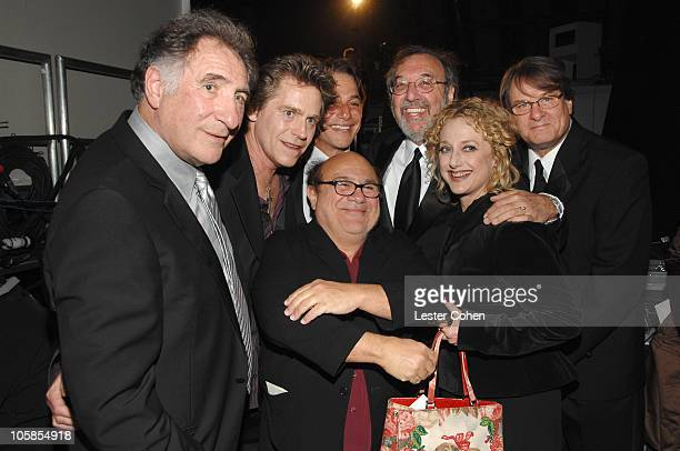 Judd Hirsch Jeff Conaway Danny DeVito Tony Danza James L Brooks Carol Kane and Randall Carver winners Medallion Award for 'Taxi'