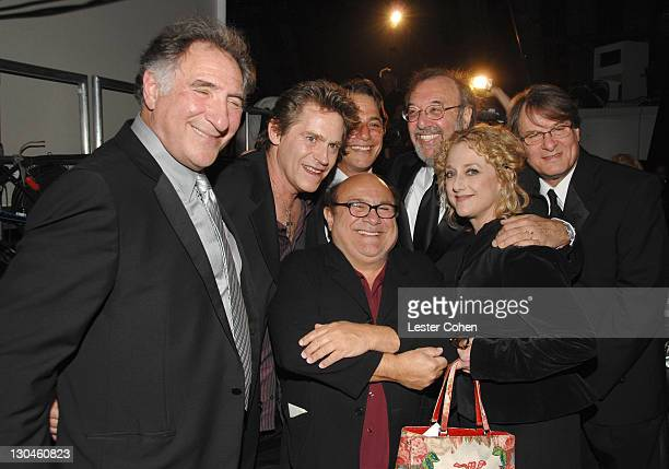 Judd Hirsch Jeff Conaway Danny DeVito Tony Danza James L Brooks Carol Kane winners Medallion Award for 'Taxi' and Randall Carver