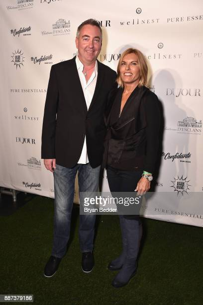 Judd White and Captain Sandra Yawn attend DuJour's Jason Binn And WellNEST Celebrate Miami Beach's Art Basel KickOff at The Confidante on December 6...
