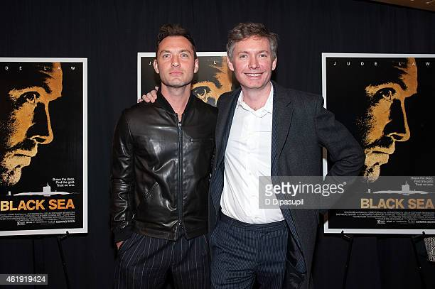 Jude Law and director Kevin Macdonald attend the 'Black Sea' New York Screening at Landmark Sunshine Cinema on January 21 2015 in New York City