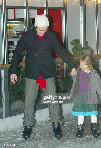 Jude Law and family during Somerset House Ice Rink Opening Night November 21 2006 at Somerset House in London United Kingdom